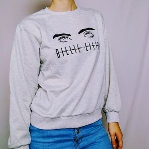 Billie Eilish Grey Crewneck Pullover